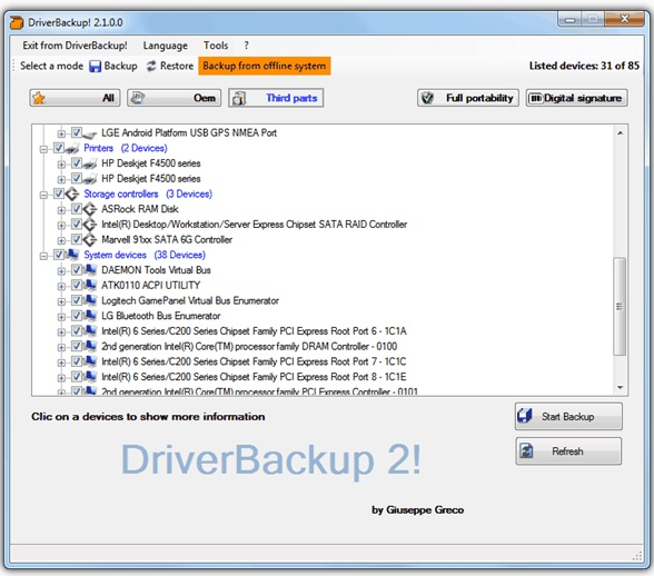DriverBackup 2
